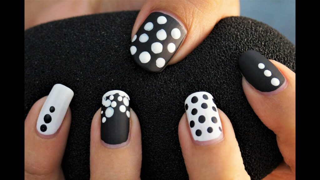 Black and white polka dot design